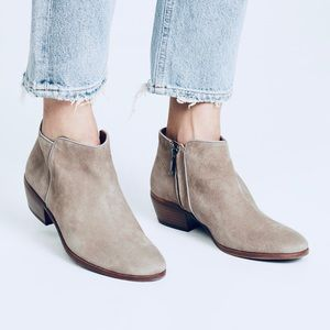 Sam Edelman Tan-Putty Suede Petty Ankle Booties